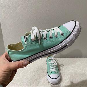 CONVERSE 7 Women's Beach Glass Mint Low Top Shoes